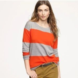 J. Crew Stripe Saturday Sweater Merino Wool